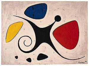 "Santos, 1956 Oil on plywood 33 7/8"" x 45 1/2"" Calder Foundation, New York A02965"