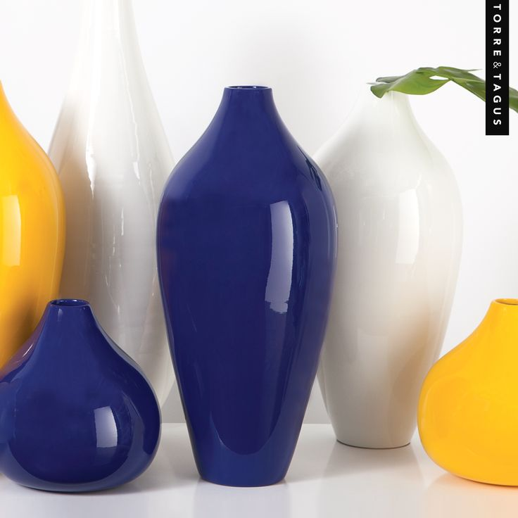 Rich, vibrant colors can easily be combined to create a stunning focal point. Mix & match your favourites for that one of a kind design statement in your home. #TorreAndTagus #JunoVase #ColourYourHome #HomeDecor www.torretagus.com