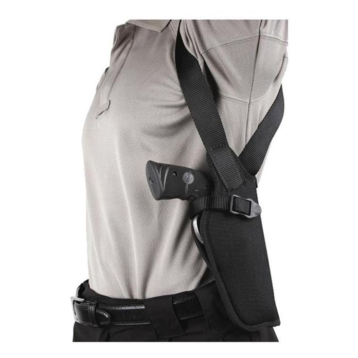 The Blackhawk Vertical Shoulder Holster carries with exceptional concealment comfort and will securely retain your firearm. The cordura nylon outer shell provides the comfort needed to wear it for long periods of time, and the waterproof closed-cell foam padding ensures protection for a variety of environments and circumstances. It comes with an offsite tie-down with a dual Picatinny rail platform that works as a great place to secure additional accessories. The adjustable non-stretch finger…