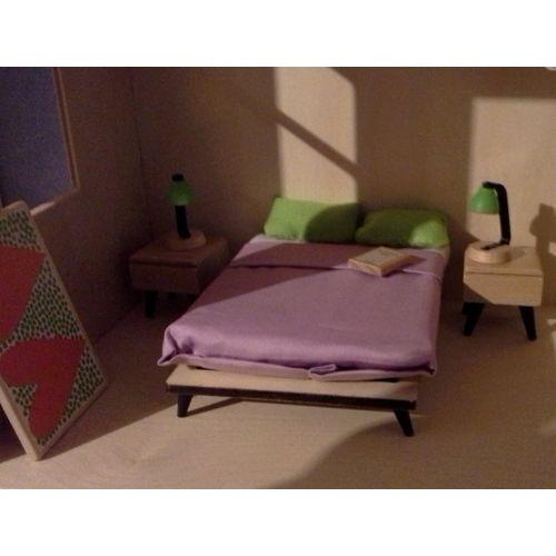 La Chambre Des Parents :: zestaw mebelków dla lalek :: pokój rodziców fufurufu Djeco