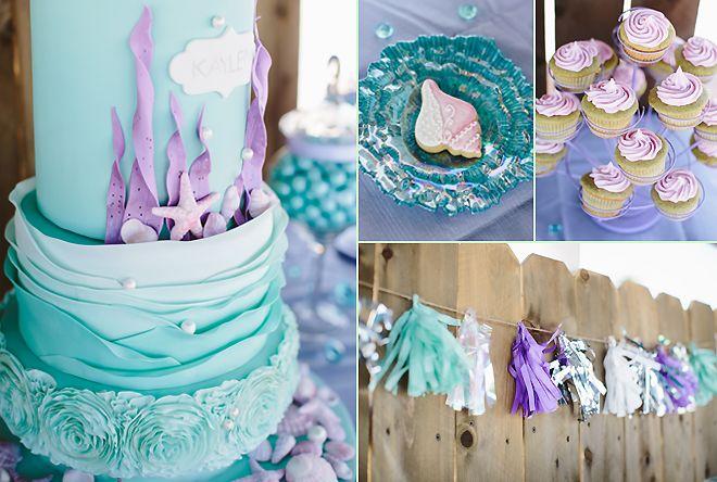 SUGAR AND SOIRÉES: Kaylen's Mermaid 1st Birthday