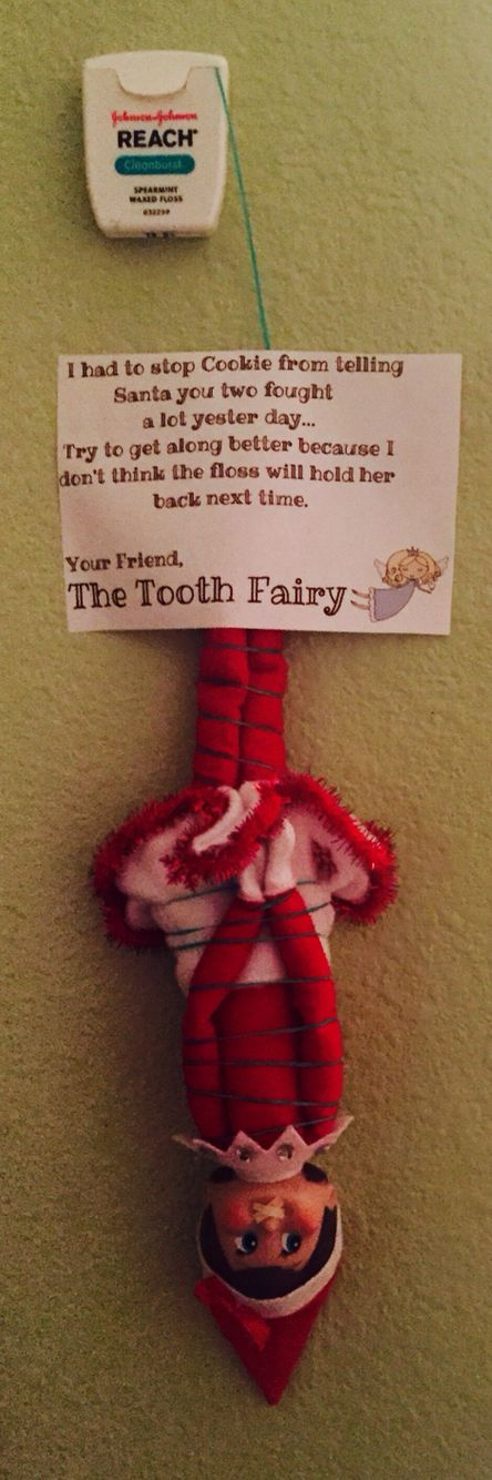 Day 3 - Our Elf on the Shelf, Cookie, hand an encounter with The Tooth Fairy...
