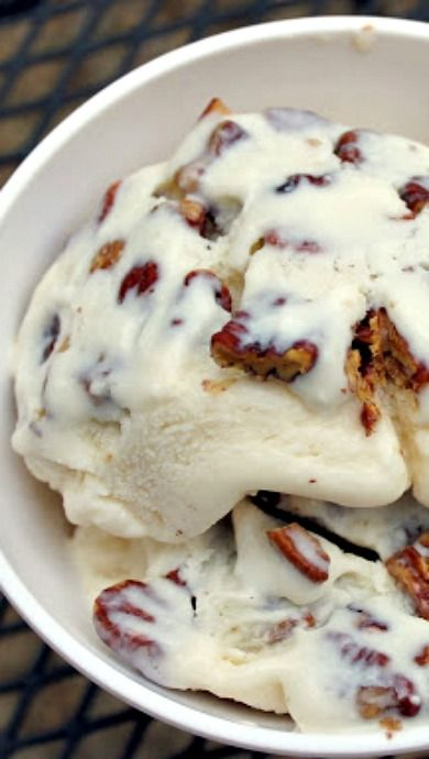 Bourbon Ice Cream with Salted Butter Pecans