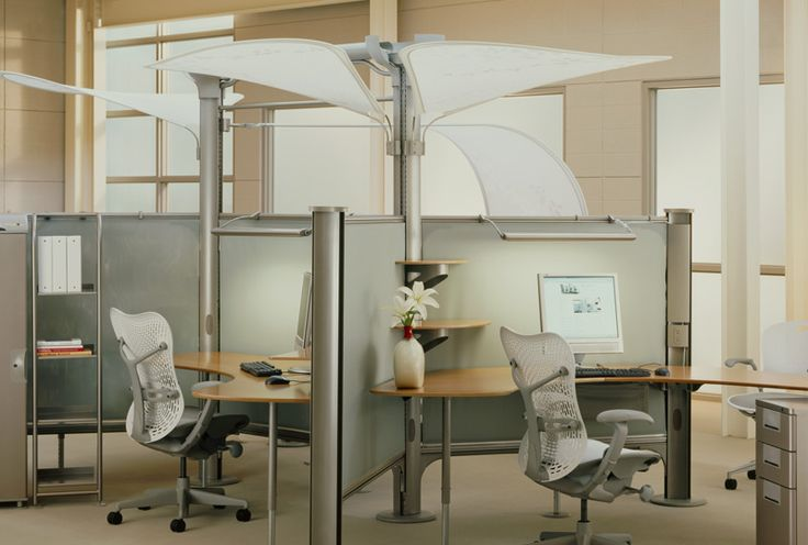 Pole Based Cubicles : A furniture system called resolve by herman miller this
