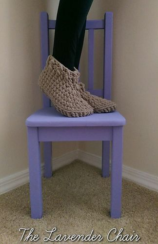 Cloud 9 Slippers free crochet pattern - The Lavender Chair