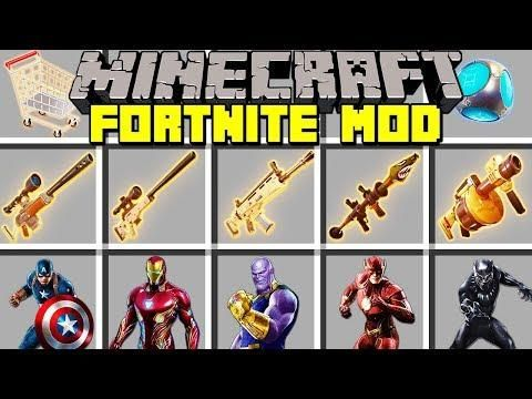 Minecraft Fortnite Battle Royale Mod L Legendary Items Superhero