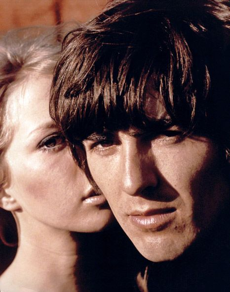 George Harrison with girlfriend and later wife, Pattie Boyd, 1965.