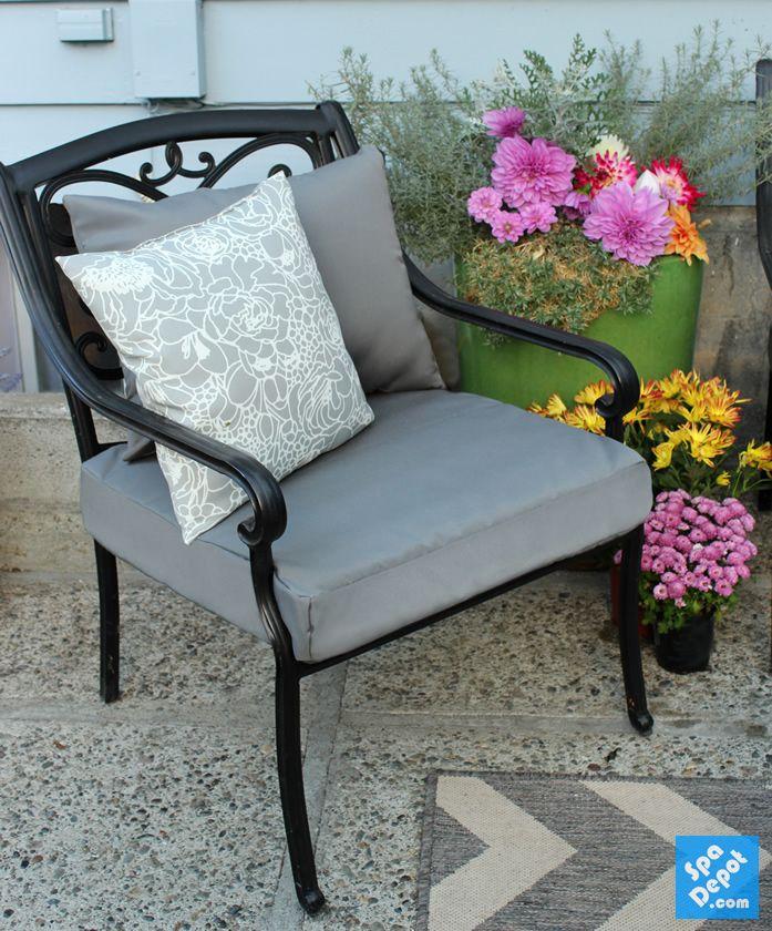 My beautiful new Sunbrella outdoor furniture cushions