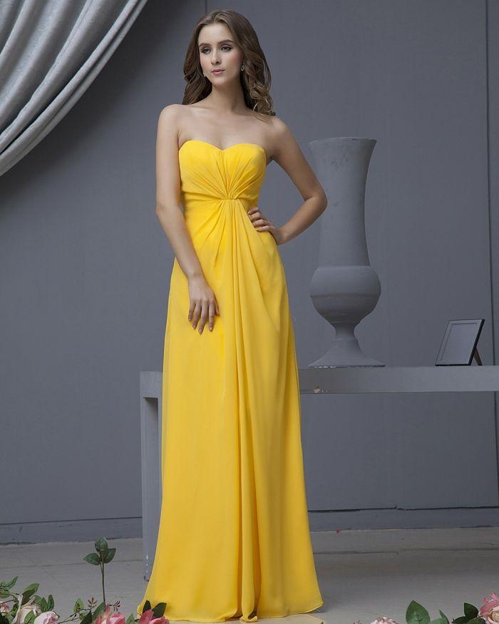 Kleider pastell gelb