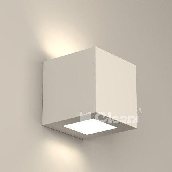 Lampy młodzieżowe Cleoni  Korytko 12 Wysokie Z Dolnym Szkłem  - Cleoni - kinkiet nowoczesny    #design #teen #lamp #Abanet.pl #Cleoni  KC100g 6810