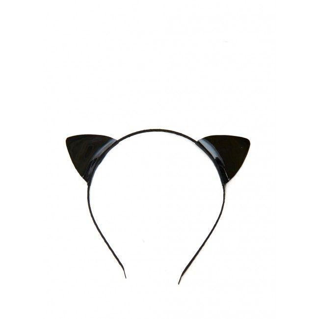 American Two Shot Leather Black Cat Ears Headband #Refinery29