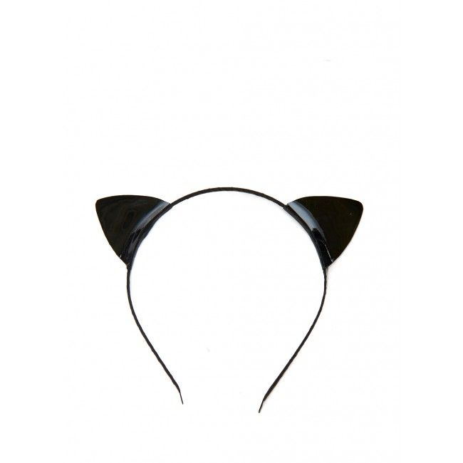American Two Shot Leather Black Cat Ears Headband #Refinery29