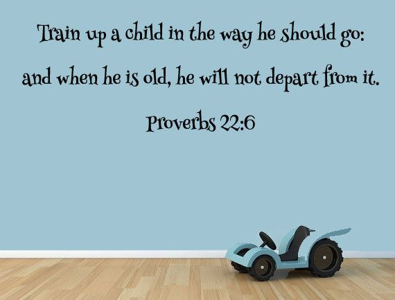 Proverbs 22 6 Train Up A Child In The Way He Should Go