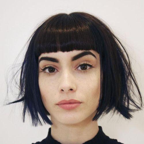 Super 1000 Ideas About Bob Haircut Bangs On Pinterest Razored Bob Hairstyles For Women Draintrainus