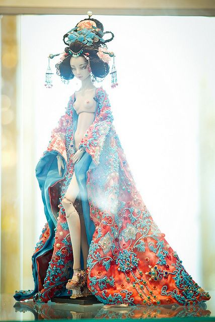 Enchanted Doll at the Catherines Palace in St. Petersurg