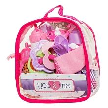You & Me - 15 Piece Doll Care Backpack