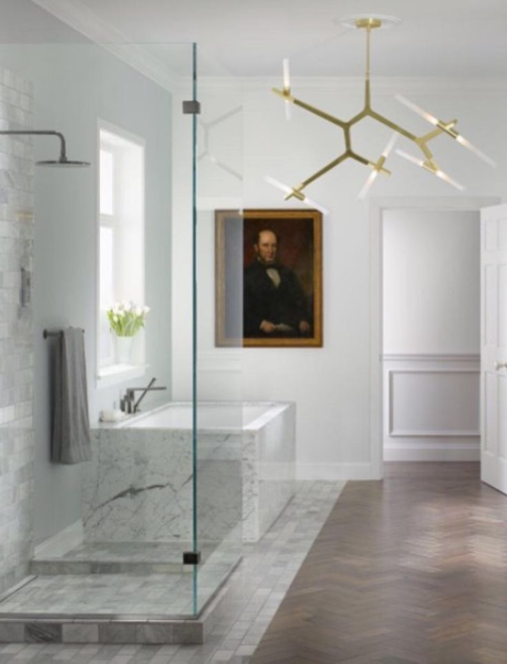 new bathroom images%0A Wood floors help to bring a bit of warmth to the overall space
