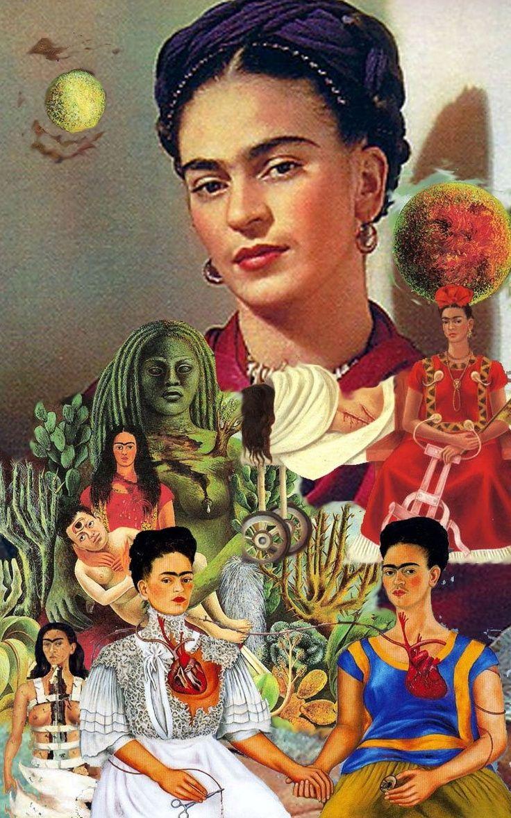 Composition Frida Kahlo #oeuvre #autoportrait #tableau #painting #art (avec images) | Frida ...
