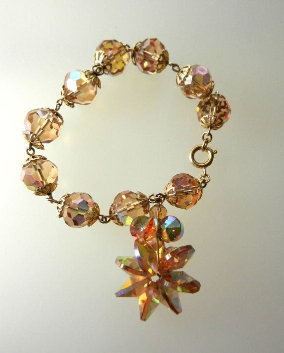 Gorgeous Vintage Glitzy dangle cluster crystals by RAKcreations