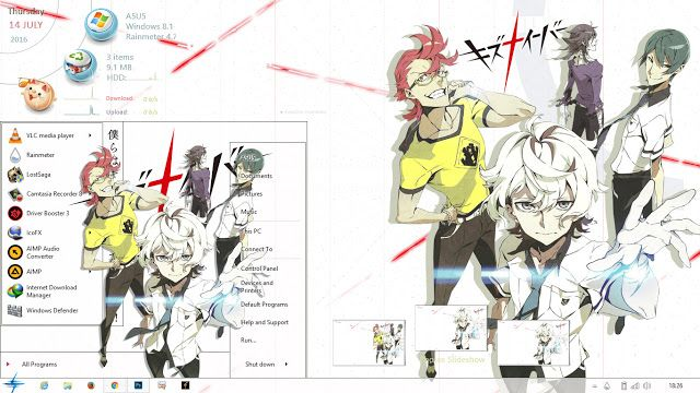 Anime Skin: Theme Windows 8.1 Kiznaiver By Bashkara