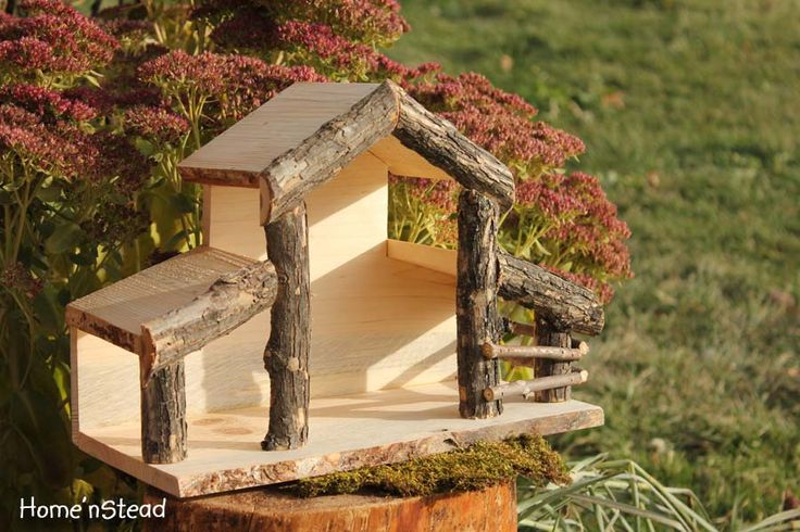"Do your nativity creche figurines need a new stable home this year? Perhaps something spacious enough to house the donkey and sheep with enough room to still welcome visitors from the East? This is the perfect design, as it's simple and charming as is, or it could dress up nicely with moss, straw or other fun accessories!  	   	Base measures approx: 14"" x 6.5"" Stands 10"" tall at the peak. The main central space for displaying figurines is 6"" x 6"" x 6"" high. Unfinished natural wood. Glued…"