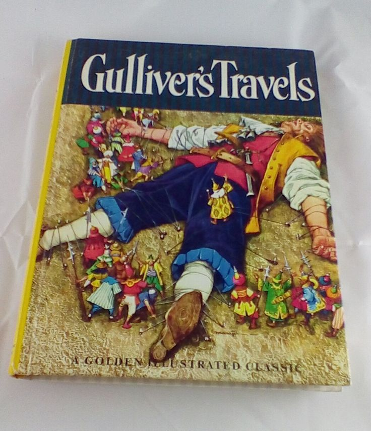 Vintage Golden Illustrated Classics Gulliver's Travels by Jonathan Swift 1966 Adapted Version Large Hardcover by BridgestoAdventure on Etsy