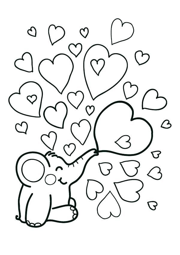 Valentine Heart Coloring Pages | cognitive:3-5 | Heart ...
