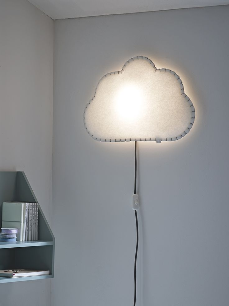 Individually handmade in Spain, each wall light is crafted from sustainable materials and hand sewn into a fluffy cloud shape. Made from recycled bottles, the soft polyester and quirky hand stitching makes this beautiful light truly unique. When mounted on the wall, the LED bulb shines through the soft material to cast a warm glow across the room -perfect for reading bedtime stories. Also available in a sweetheartor cute starshape. Click here to view our useful lighting buying guide.