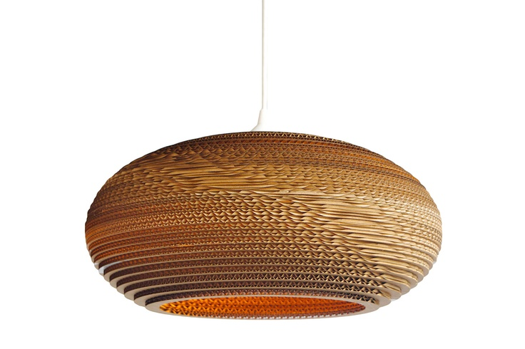 corrugated cardboard lamp, Heals