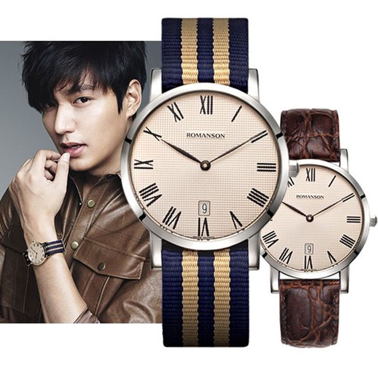 ROMANSON cf mode Lee Min-ho 李敏鎬 Лі Мін Хо clock Leather+Fabric TL3252UU1WAC5B