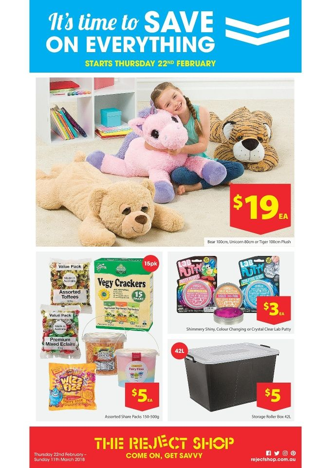 The Reject Shop Catalogue 22 February - 11 March 2018 - http://olcatalogue.com/reject-shop/reject-shop-catalogue.html