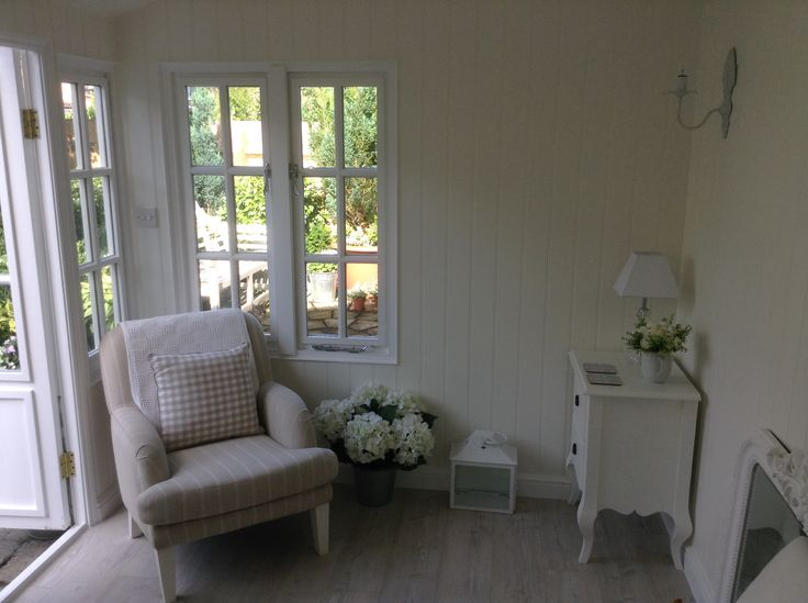 Somewhere to sit and read or daydream in our new Summerhouse. August 2014