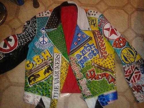 Paint Punk Studded Leather Jacket
