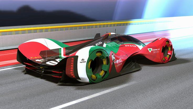 racing car concept lmp electric revolt on track on behance minimal motor concepts pinterest. Black Bedroom Furniture Sets. Home Design Ideas