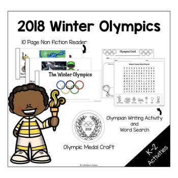 Your students will love learning about the Winter Olympics with this non fiction reader. This reader has 10 pages of information appropriate for your First Grade students! With this product they will learn about the Winter Games, the sports played, and they will even get to pretend to be an olympian - complete with their