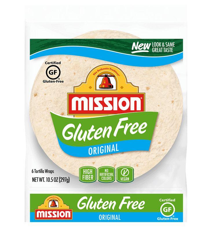 Gluten free soft taco flour tortilla wraps mission foods