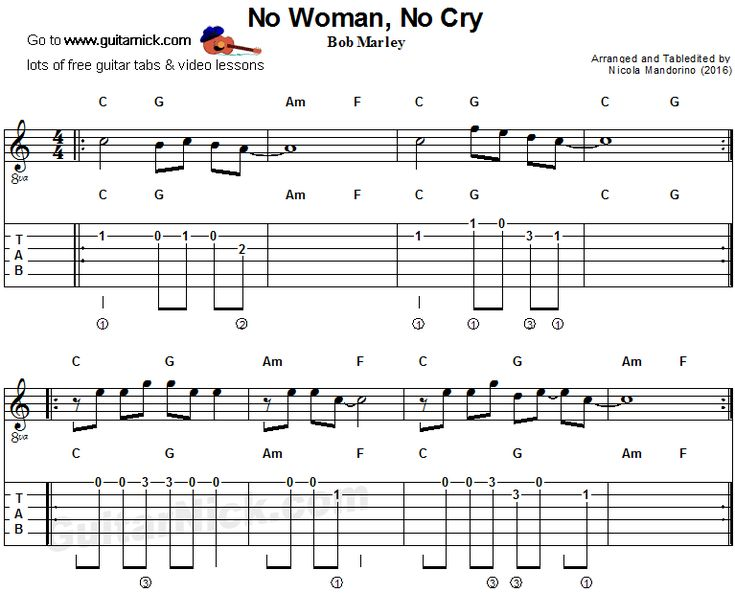 how to play no woman no cry guitar