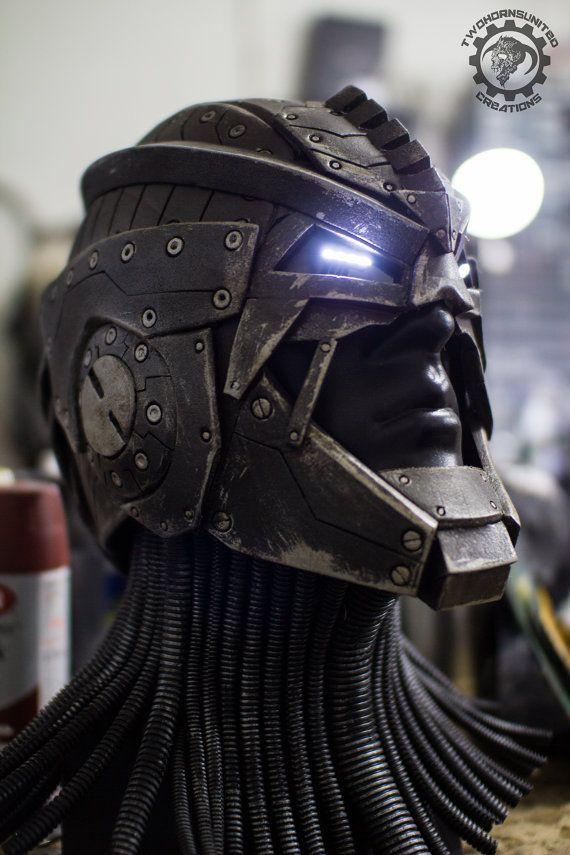 El Berserker - Scifi único del tipo de luz hasta el casco del héroe/villano - listo para enviar