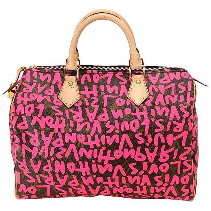 Louis Vuitton Speedy 30 Graffiti Pink Stephen Sprouse 1
