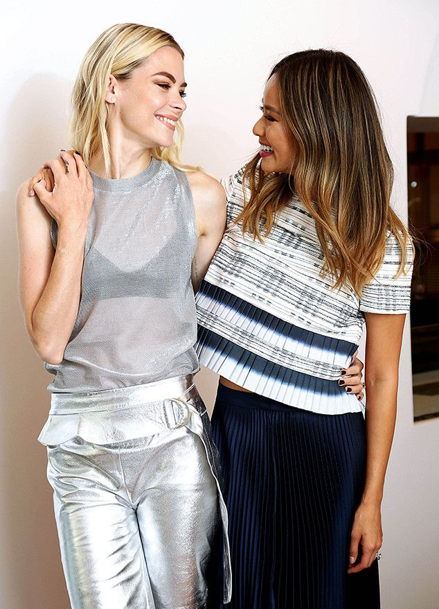 Jaime King & Jamie Chung from The Big Picture: Today's Hot Pics  Jaime and Jamie share some smiles at a WEI Beauty launch eventin Los Angeles.