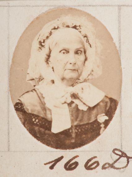 Marquesa de Santos pouco antes de sua morte. Foto de Militão Augusto de Azevedo - Museu Paulista/ USP