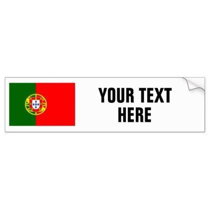 Portuguese flag of Portugal custom bumper stickers - sticker stickers custom unique cool diy