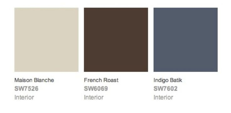 exterior house colors! was trying to choose an accent to go with my tan and brown home and voila! blue :)