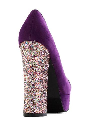 Gold Coast Heel in Violet, #ModCloth