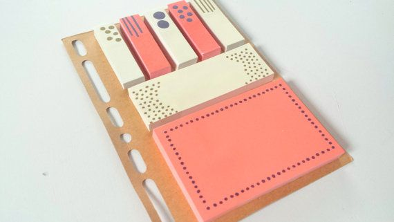 Neon Sticky Notes on a Planner Dashboard by PetitePinkBoutique
