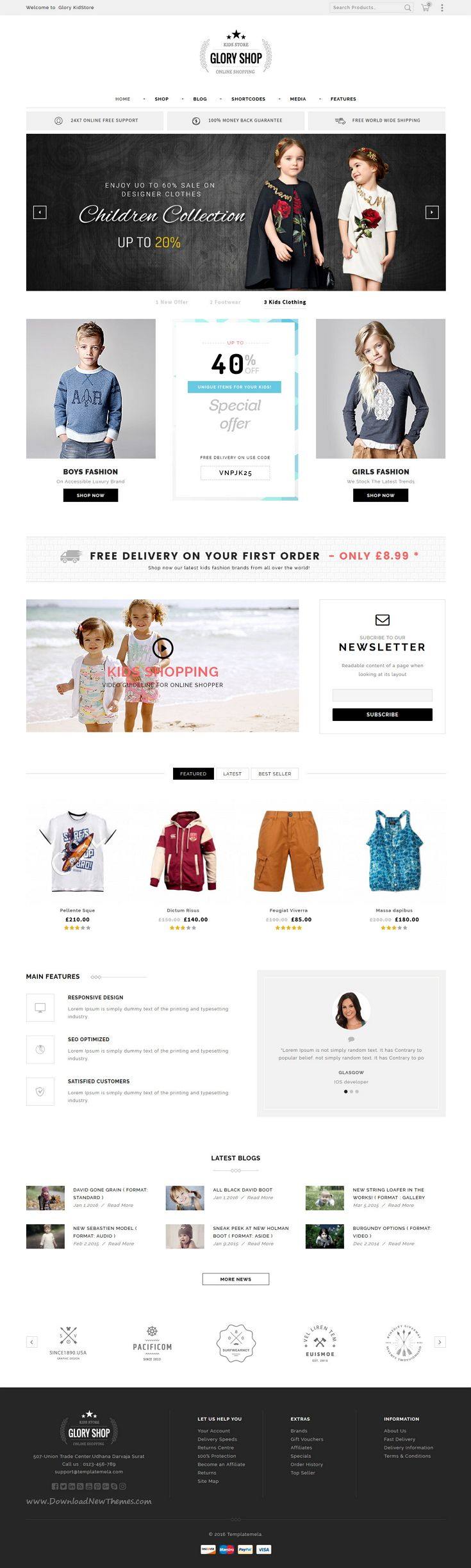 How to design a website for kids - Glory Shop Multipurpose Woocommerce Theme