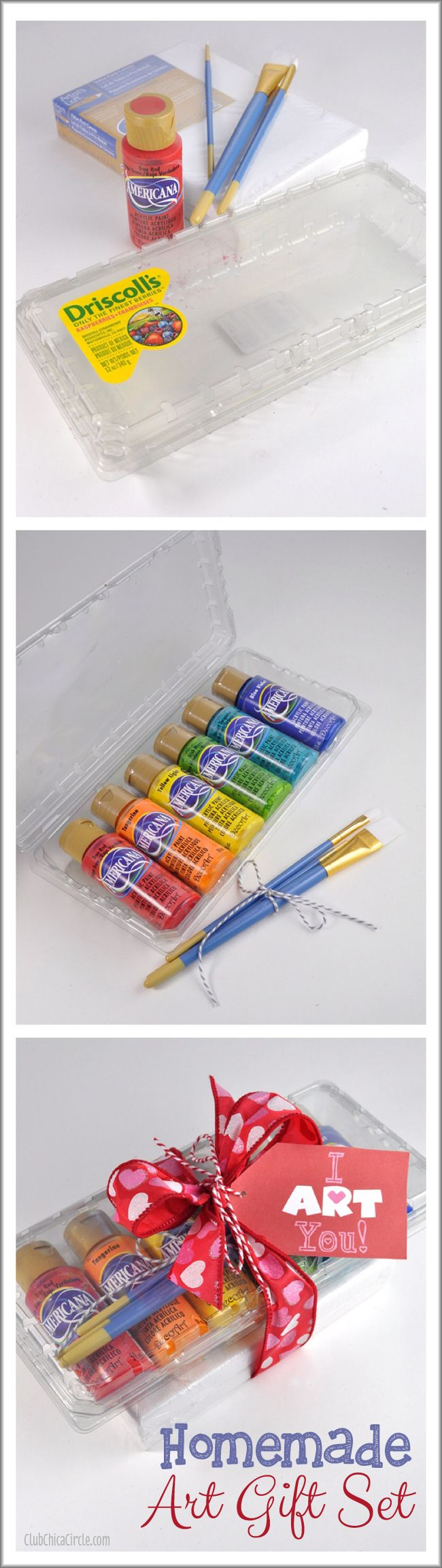 Make your own homemade art gift set for tweens