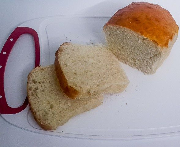 Tender, moist and airy soft potato bread