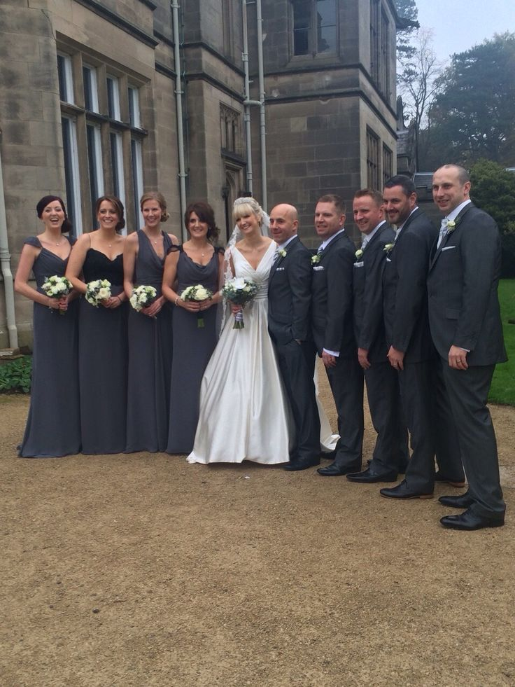 budget wedding photography west midlands%0A Wedding Grey Bridesmaids dresses Ushers