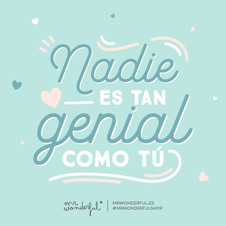 Nadie es tan genial como tú Mr Wonderful
